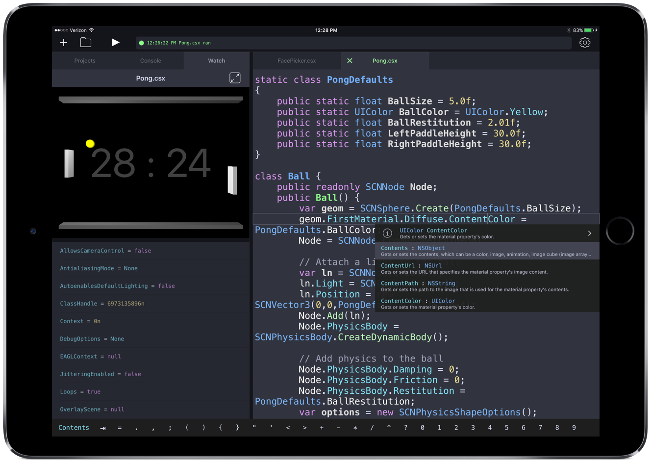 Continuous IDE on an iPad