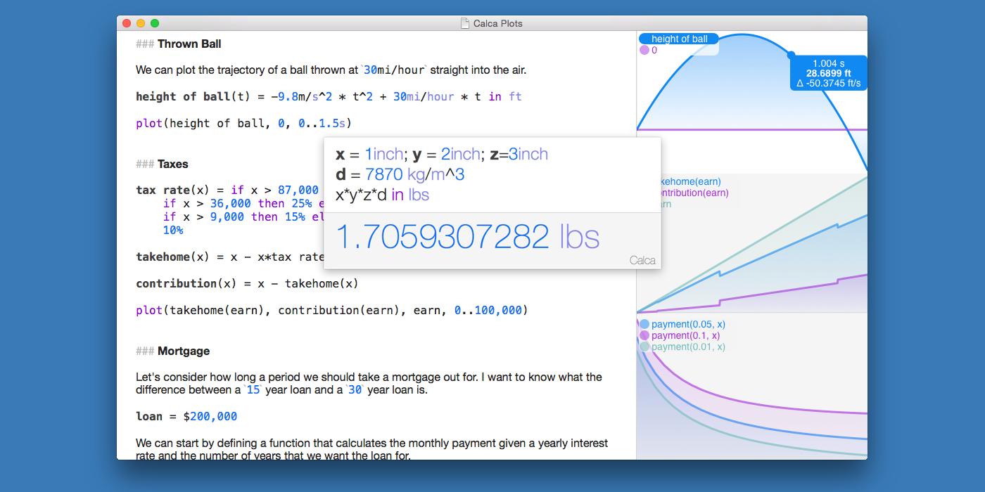 See Calca 1.3 on the Mac App Store
