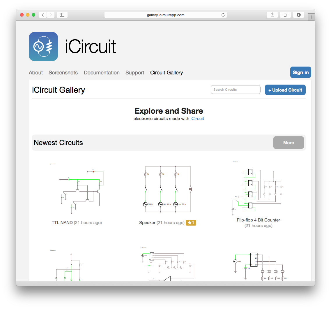 Introducing the iCircuit Gallery
