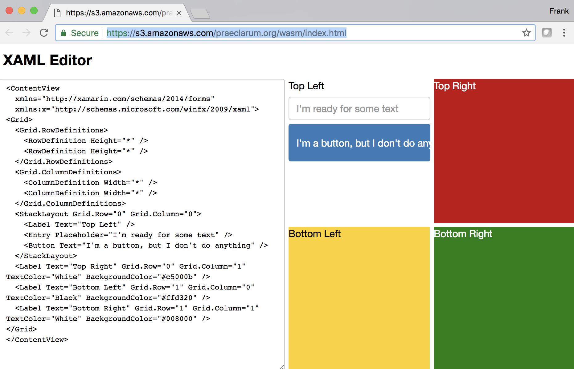 Ooui Wasm -  NET in the browser
